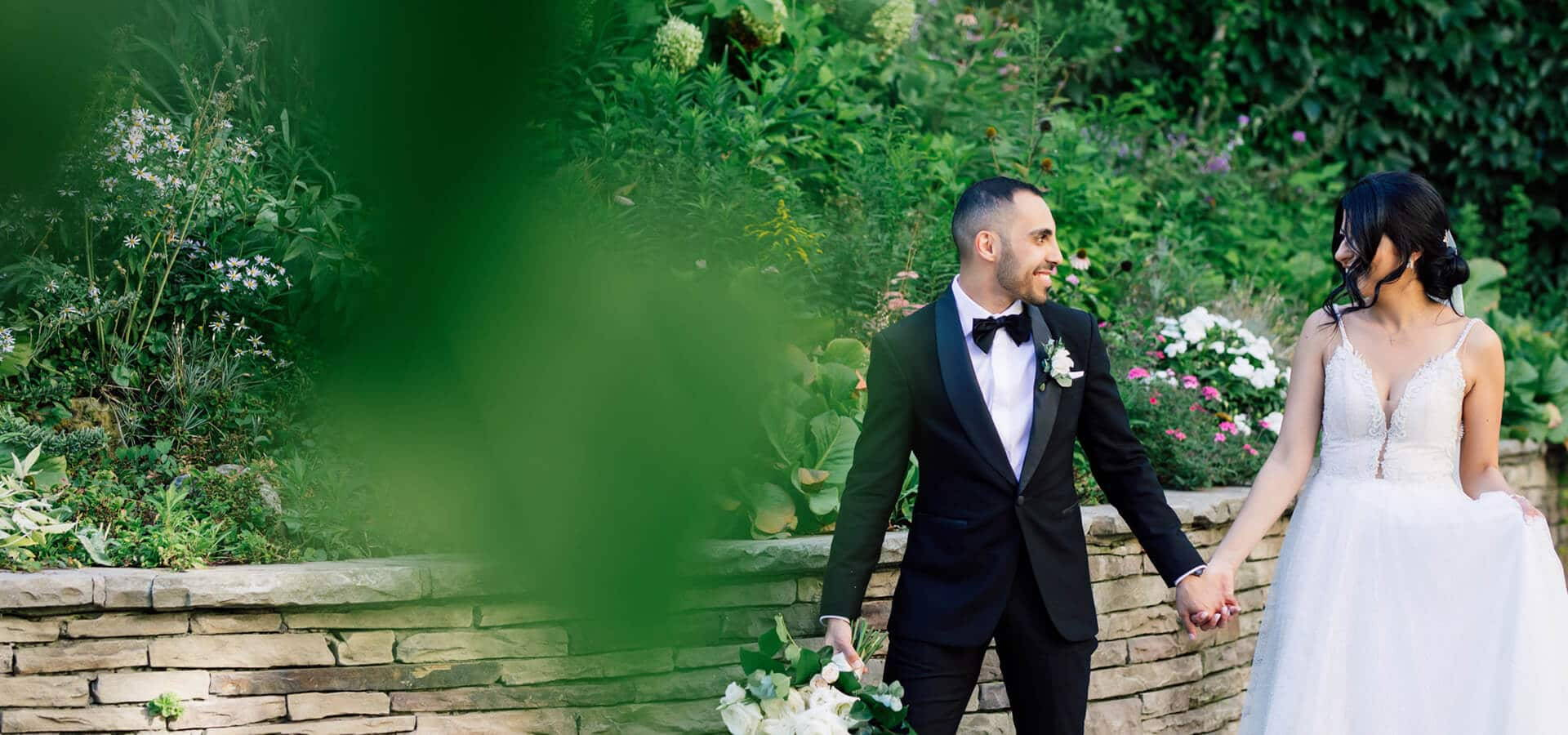 Hero image for Marina and Ramy's Lush Wedding at Eglinton West Gallery