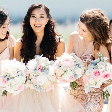 Blooms Studio featured in Emily and Hyo's Elegant Malaparte Wedding