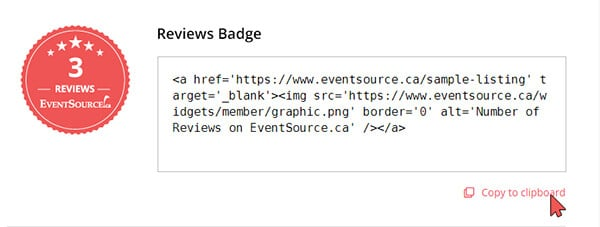 how to add the review badge to your website, 2