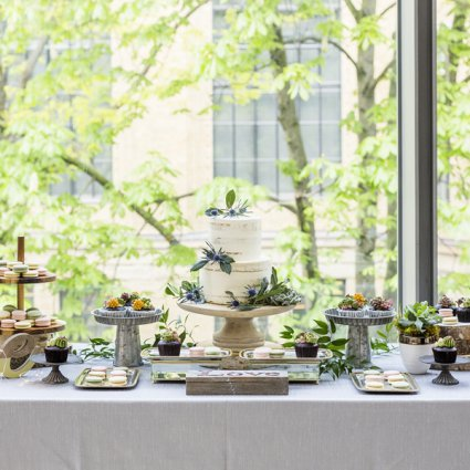 Flour and Flower Cake Design featured in Wei + Jim's Chic Wedding at the Royal Conservatory of Music