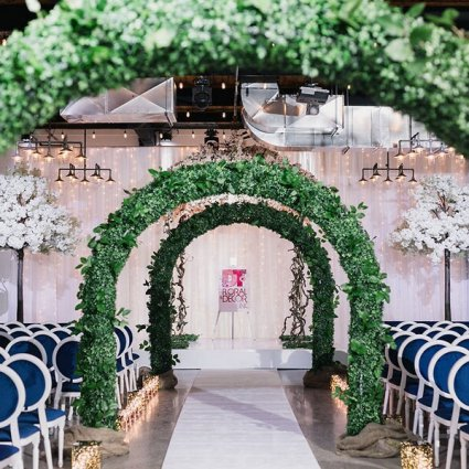 DT Floral & Décor featured in A Wedding Open House Celebrating the Grand Opening of Eglinto…