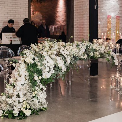 Stôk Floral & Design Inc. featured in A Wedding Open House Celebrating the Grand Opening of Eglinto…