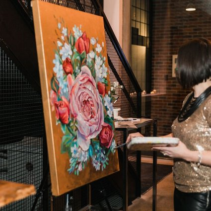Olga Pankova - Live Event Artist featured in A Wedding Open House Celebrating the Grand Opening of Eglinto…