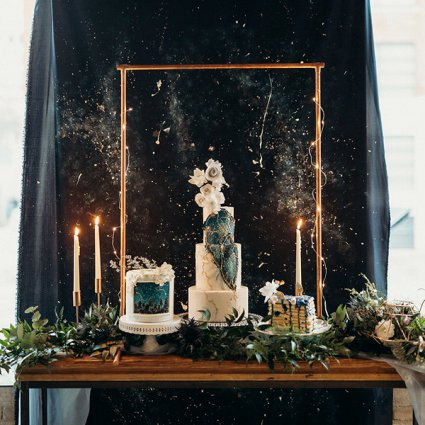 Cakelaine featured in Styled Shoot: A Celestial Love in the City