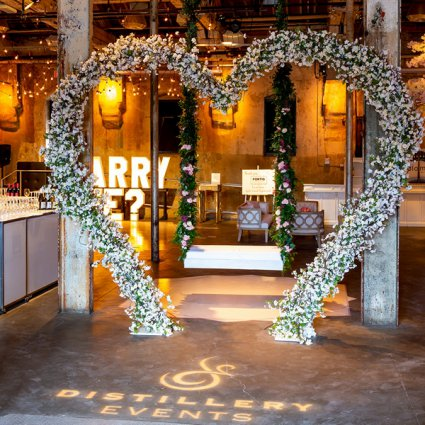 Jackie O Florists featured in Distillery Events' 2019 Annual Wedding Open House