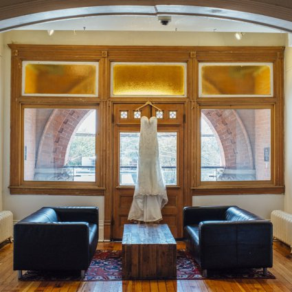 Jealous Bridesmaids featured in Vanessa and Jeff's Intimate Wedding at the Gladstone Hotel