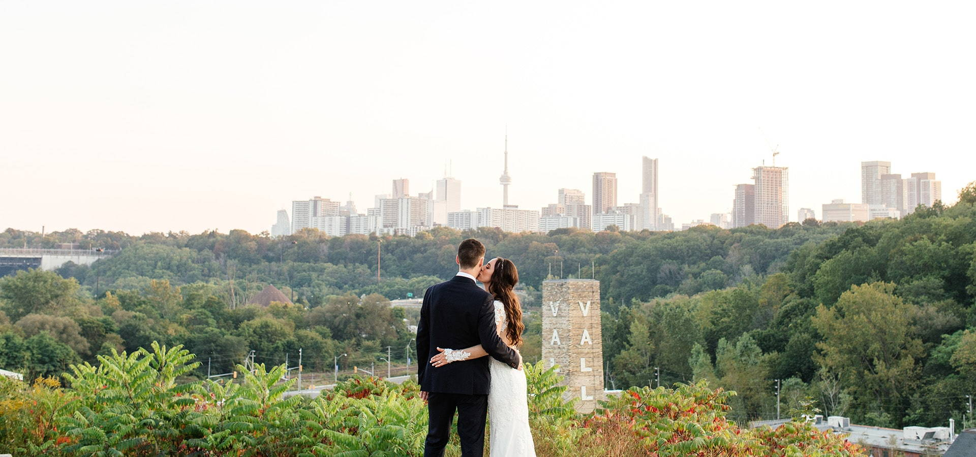 Hero image for Krista & Kyle's Industrial Wedding at Evergreen Brick Works