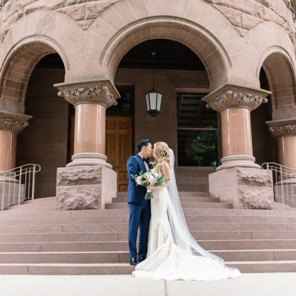 Liberty Grand Entertainment Complex featured in Nikki and Warren's Timelessly Elegant Wedding at Liberty Gran…