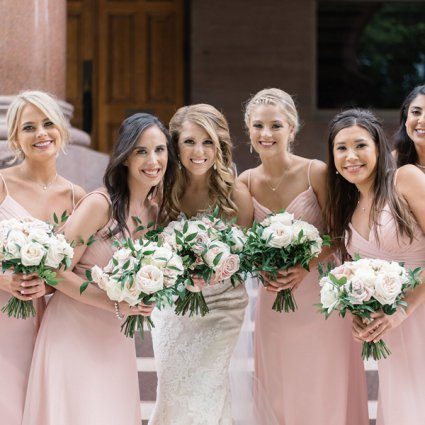 Coquette Studio Floral Design featured in Nikki and Warren's Timelessly Elegant Wedding at Liberty Gran…