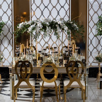 S2 Event Decor Inc. featured in A Stunning Geometrical Shape Inspired Style Shoot