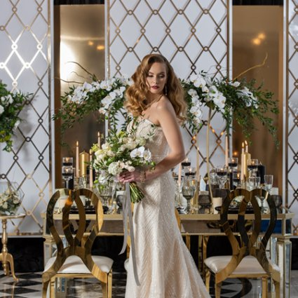 Royal Venetian Mansion featured in A Stunning Geometrical Shape Inspired Style Shoot