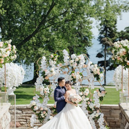 Fleur Weddings featured in Kathy and Kevin's Lovely Wedding at Paletta Mansion