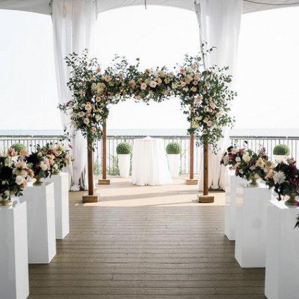 Karina Lemke featured in Melissa and Michael's Mid-Summer Wedding at Palais Royale
