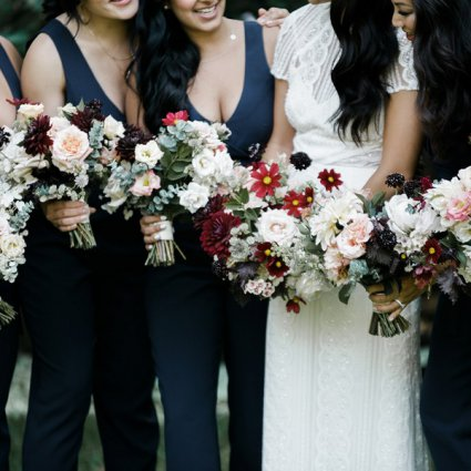 Blush and Bloom featured in Melissa and Michael's Mid-Summer Wedding at Palais Royale