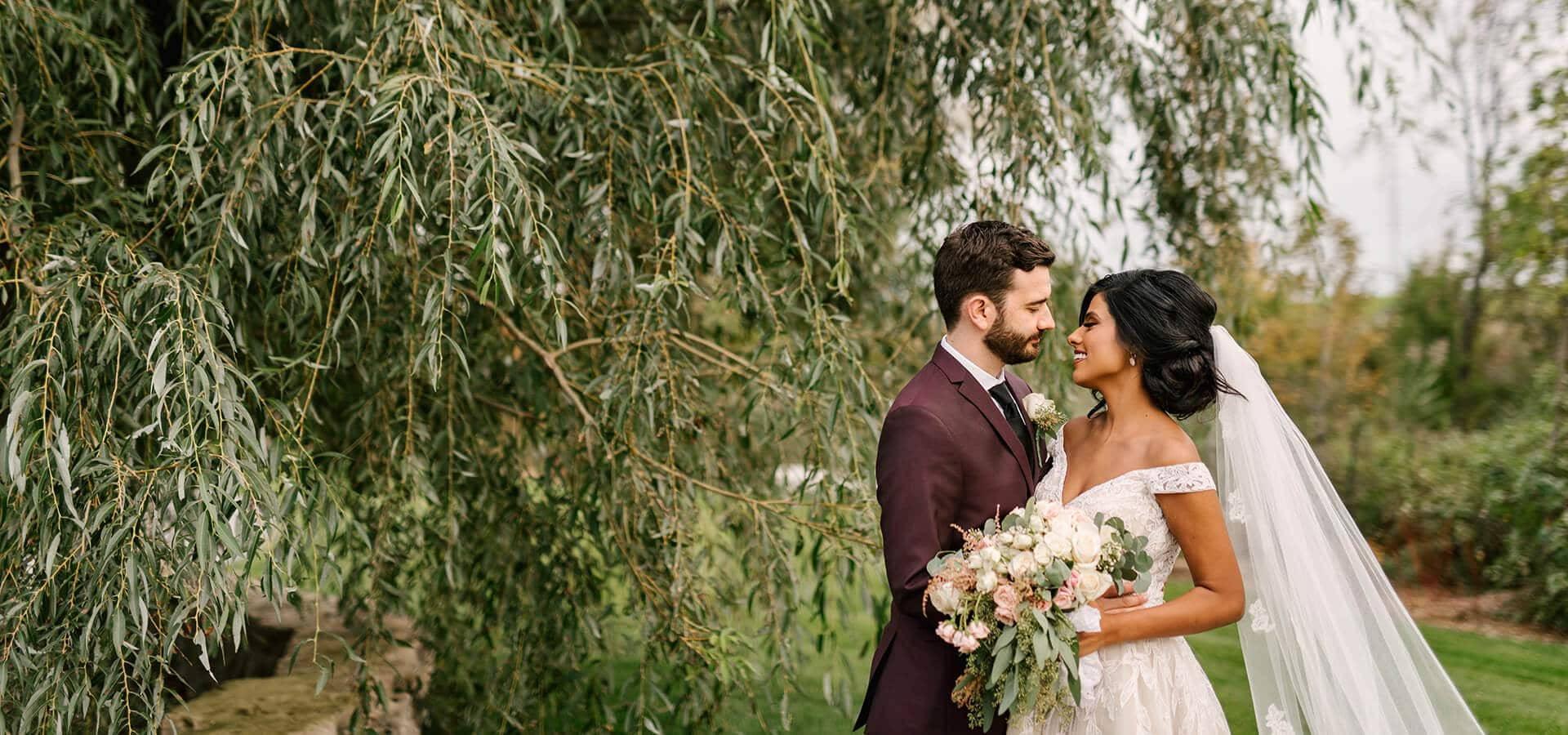 Hero image for Rachel & Mike's Lush Garden Wedding at the Arlington Estate
