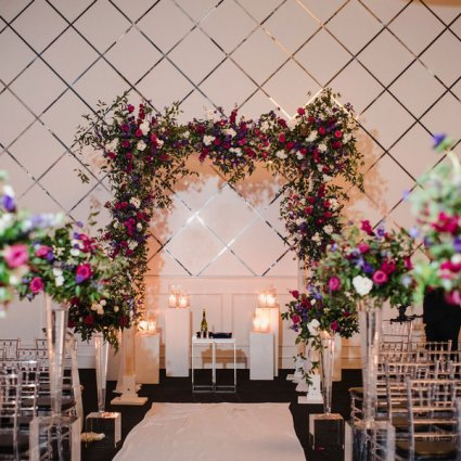 Blush and Bloom featured in Renée and Aaron's Beautiful Wedding at the Grand Luxe Event B…
