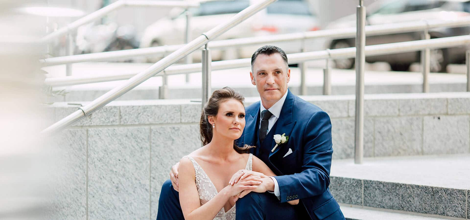 Hero image for Stephanie & Timothy's Modern Geometric Wedding at The Chase