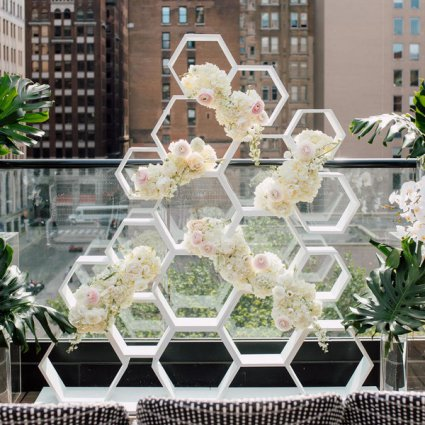 Engineered Arts featured in Stephanie & Timothy's Modern Geometric Wedding at The Chase