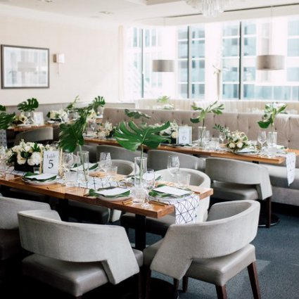 The Chase featured in Stephanie & Timothy's Modern Geometric Wedding at The Chase