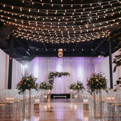 York Mills Gallery featured in Grace and Elbert's Urban Chic Wedding at York Mills Gallery