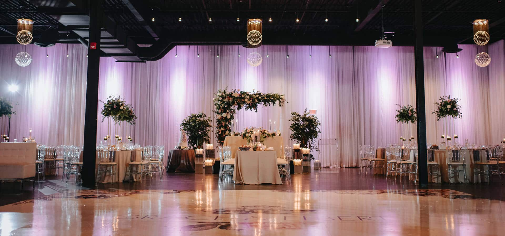 Hero image for Grace and Elbert's Urban Chic Wedding at York Mills Gallery