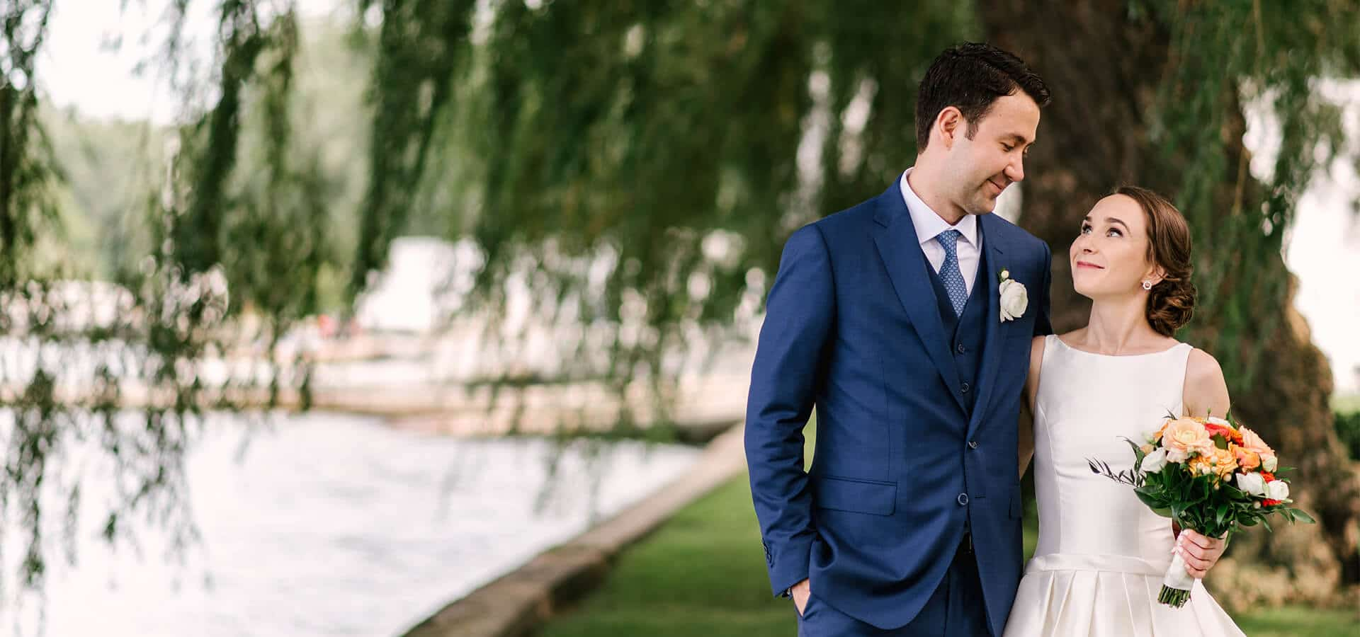 Hero image for Megan and Santiago's Lakeside Wedding at the Royal Canadian Yacht Club