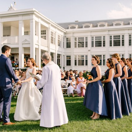 Royal Canadian Yacht Club featured in Megan and Santiago's Lakeside Wedding at the Royal Canadian Y…