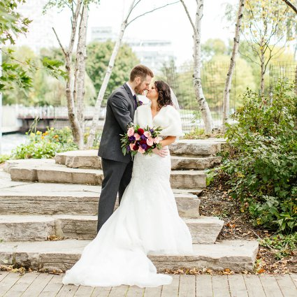 Oak & Myrrh Photography featured in Stella and Adam's Astronomical Wedding at Steam Whistle