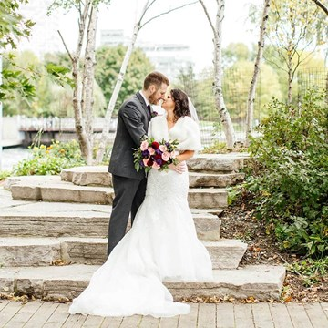 Stella and Adam's Astronomical Wedding at Steam Whistle