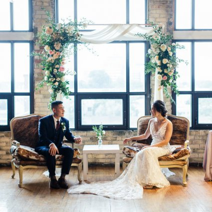 The Burroughes featured in Laurie and Dan's Rustic Wedding at the Historic Burroughes