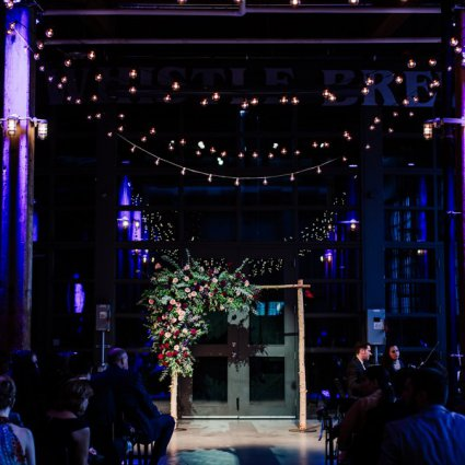 Steam Whistle Brewery featured in Stella and Adam's Astronomical Wedding at Steam Whistle