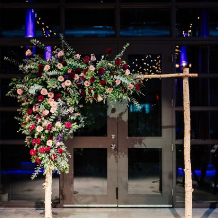 Pink Twig Floral Boutique featured in Stella and Adam's Astronomical Wedding at Steam Whistle