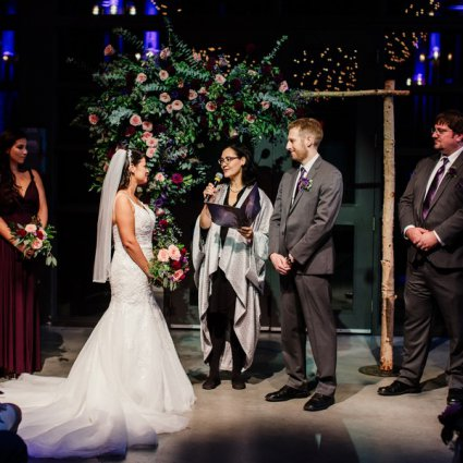 The Marrying Lady featured in Stella and Adam's Astronomical Wedding at Steam Whistle