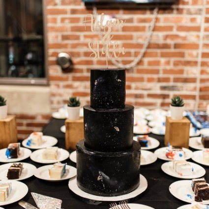 Le Dolci featured in Stella and Adam's Astronomical Wedding at Steam Whistle