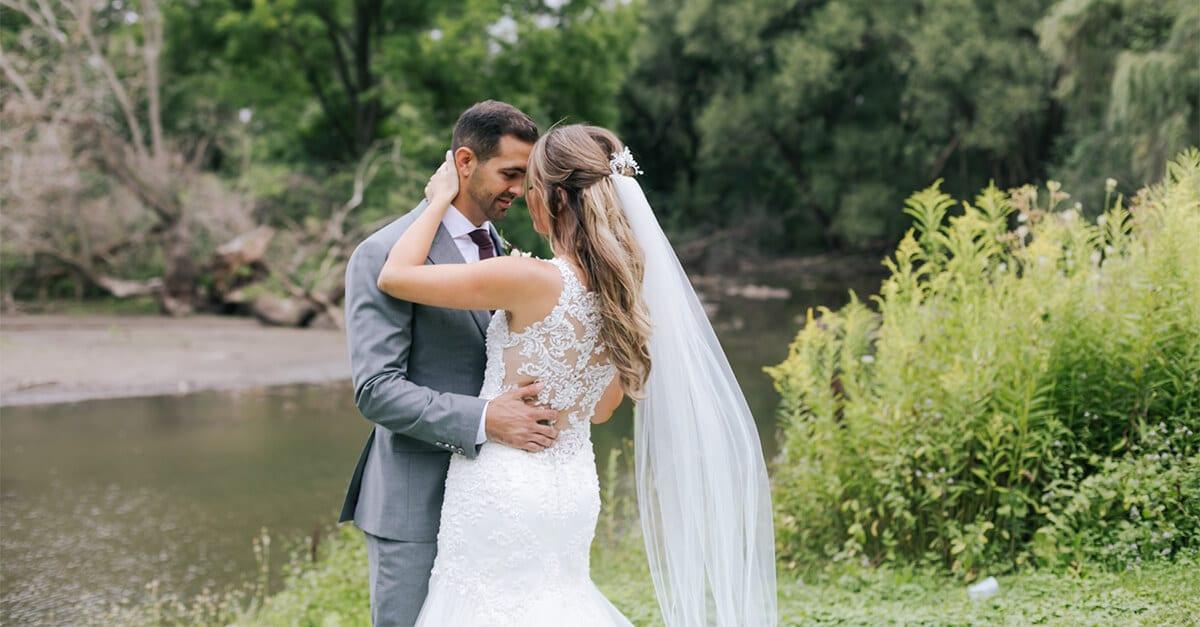 Hero image for Ella and Mike's Elegant Wedding at Harding Waterfront Estate