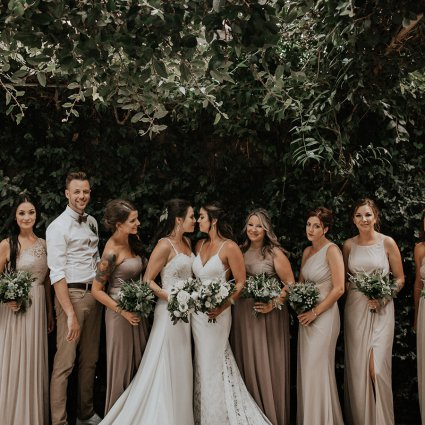 Bows & Lavender featured in Chantal and Sam's Intimate Madsen's Greenhouse Wedding