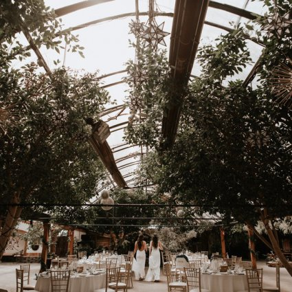 Room to Bloom featured in Chantal and Sam's Intimate Madison Greenhouse Wedding