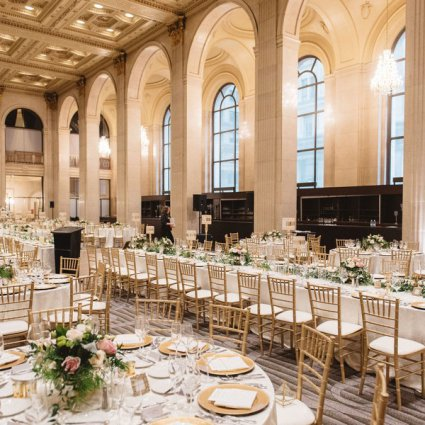 One King West featured in Sophia and George's Elegant Wedding at One King West