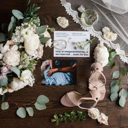 Quill & Oak featured in Megan and Aaron's Boho Chic Wedding at The Doctor's House