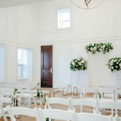 The Arlington Estate featured in Kristi and Richard's Classic Green and White Wedding at the A…