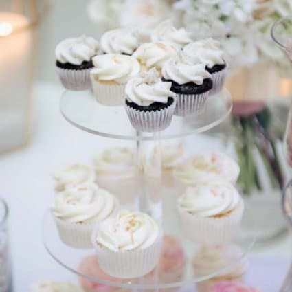 Cakeity Cakes featured in Kristi and Richard's Classic Green and White Wedding at the A…