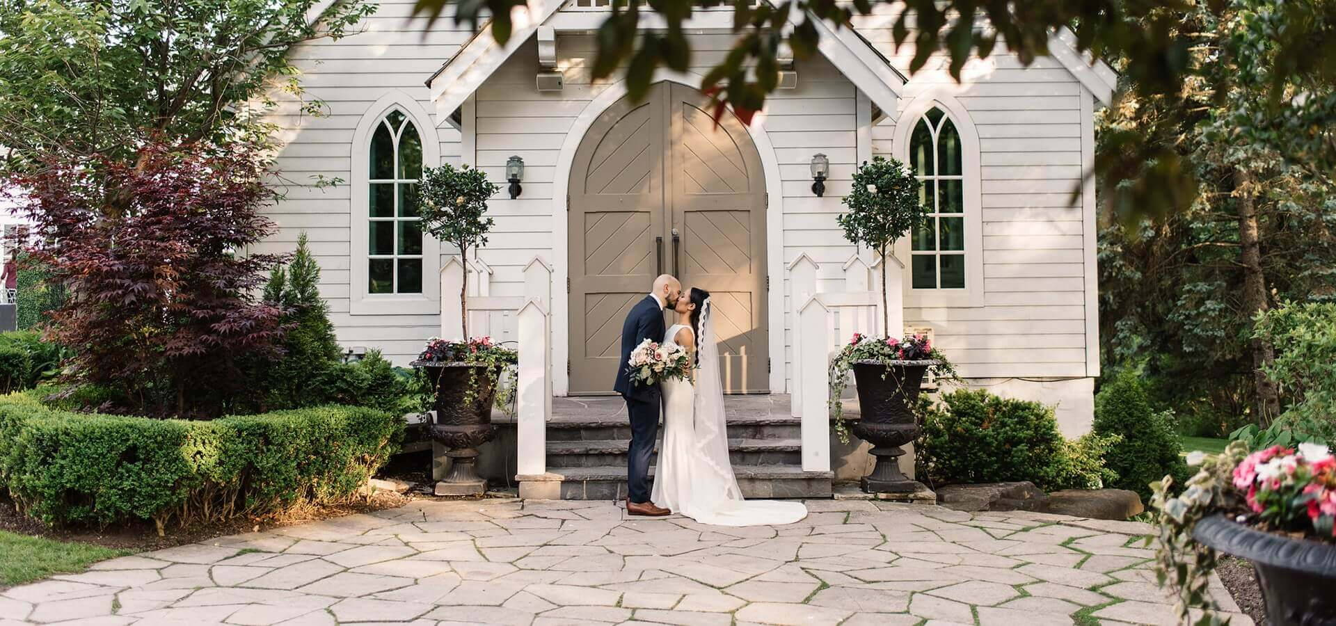 Hero image for Megan and Aaron's Boho Chic Wedding at The Doctor's House