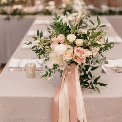 Rosehill Blooms featured in Nerissa and Neil's Urban Downtown Wedding at Airship37