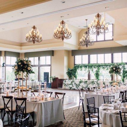 Deer Creek Golf & Banquet Facility featured in Rebecca and Matthew's Romantic Garden Style Wedding at Deer C…