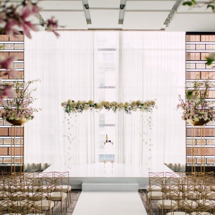 Contemporary Furniture Rentals featured in Shibayle and Chris' Charmingly Elegant Wedding at the Four Se…