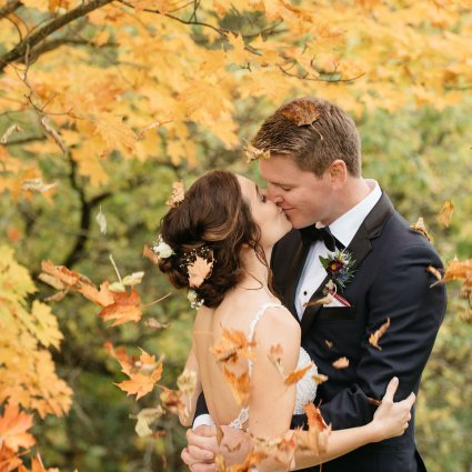 Thumbnail for Lauren and Brad's Cozy Fall Wedding at the Manor