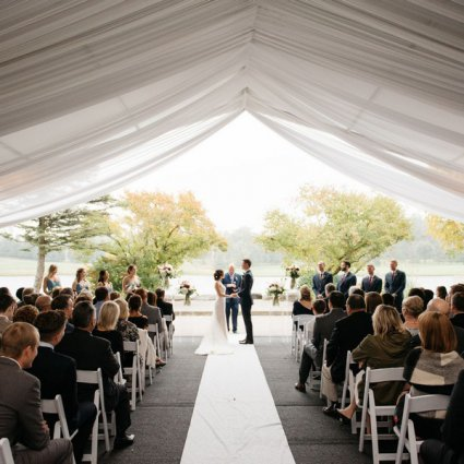 The Manor featured in Lauren and Brad's Cozy Fall Wedding at the Manor