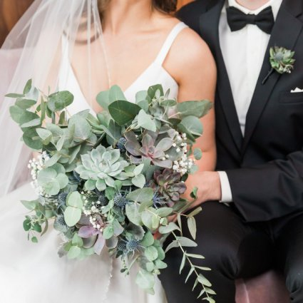 Cool, Green & Shady featured in Alexandra and Anthony's Timelessly Elegant Four Season's Hote…