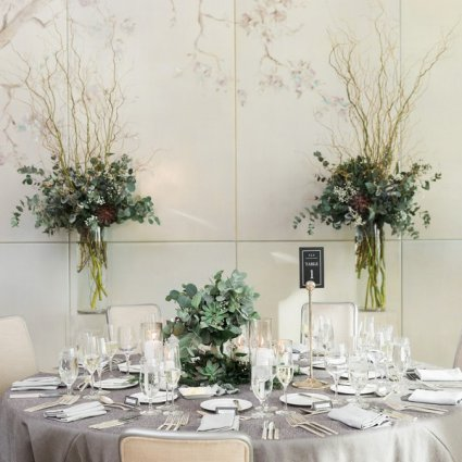 Whim Event Planning & Design featured in Alexandra and Anthony's Timelessly Elegant Four Season's Hote…