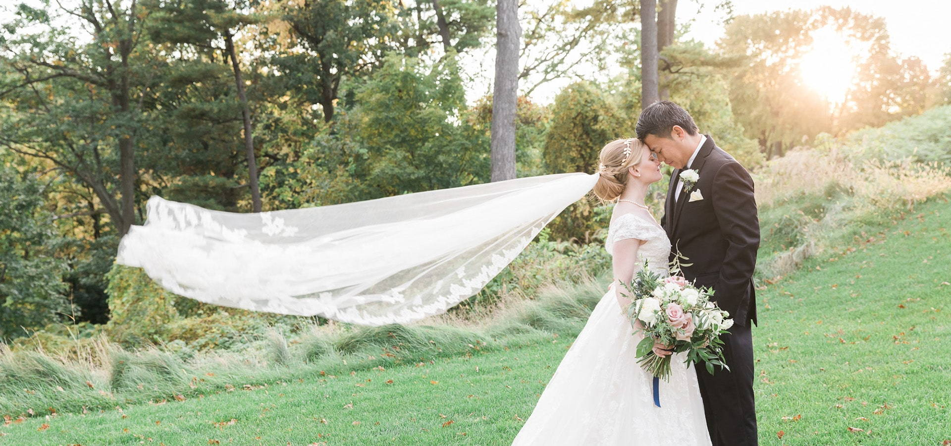 Hero image for Caitlin and Steven's Fall Wedding at Credit Valley Golf Course